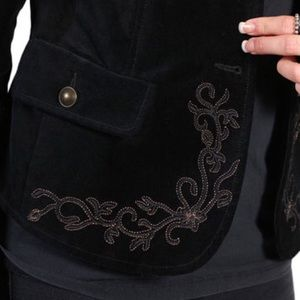 White Crow Jackets & Coats - White crow velvet and embroidered jacket